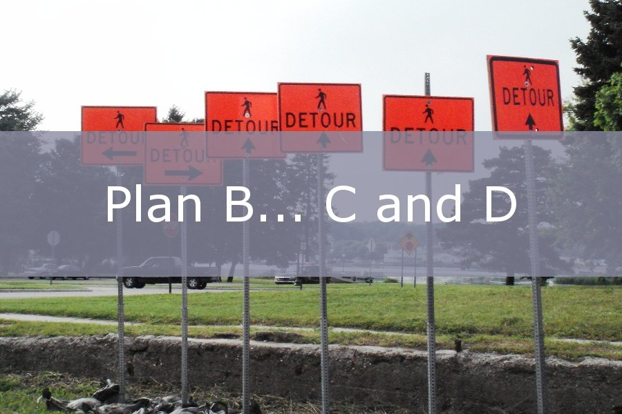 Plan B... C, and D.