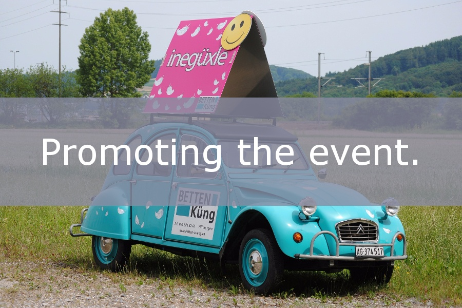 Promoting your event.